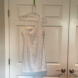 White Sequined Mini Dress